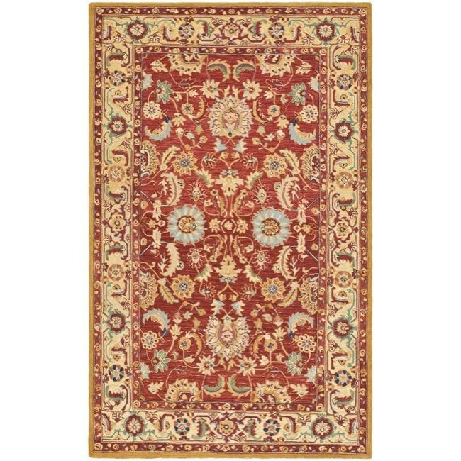 Safavieh Hand-hooked Chelsea Heritages Red Wool Rug - 7'9 x 9'9