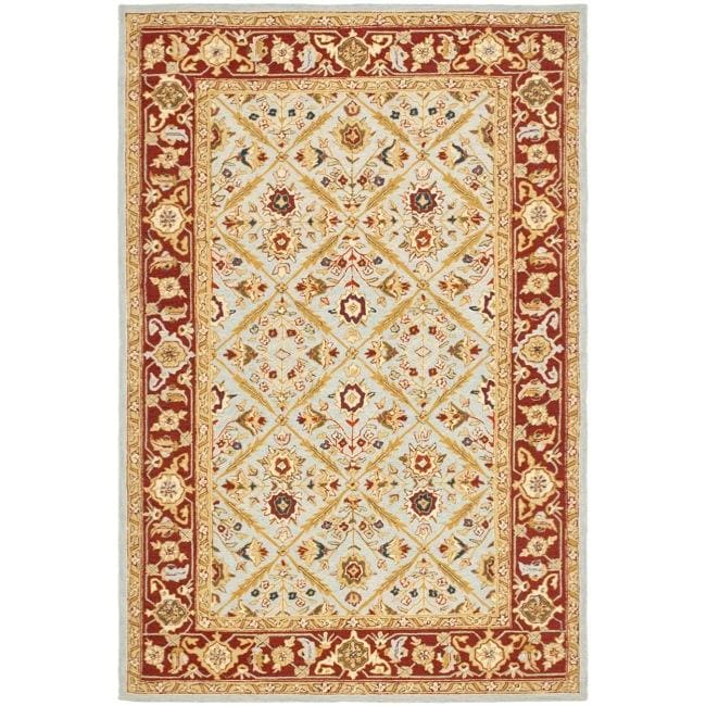 Safavieh Hand-hooked Chelsea Treasures Blue Wool Rug (7'9 x 9'9) - 7'9 x 9'9
