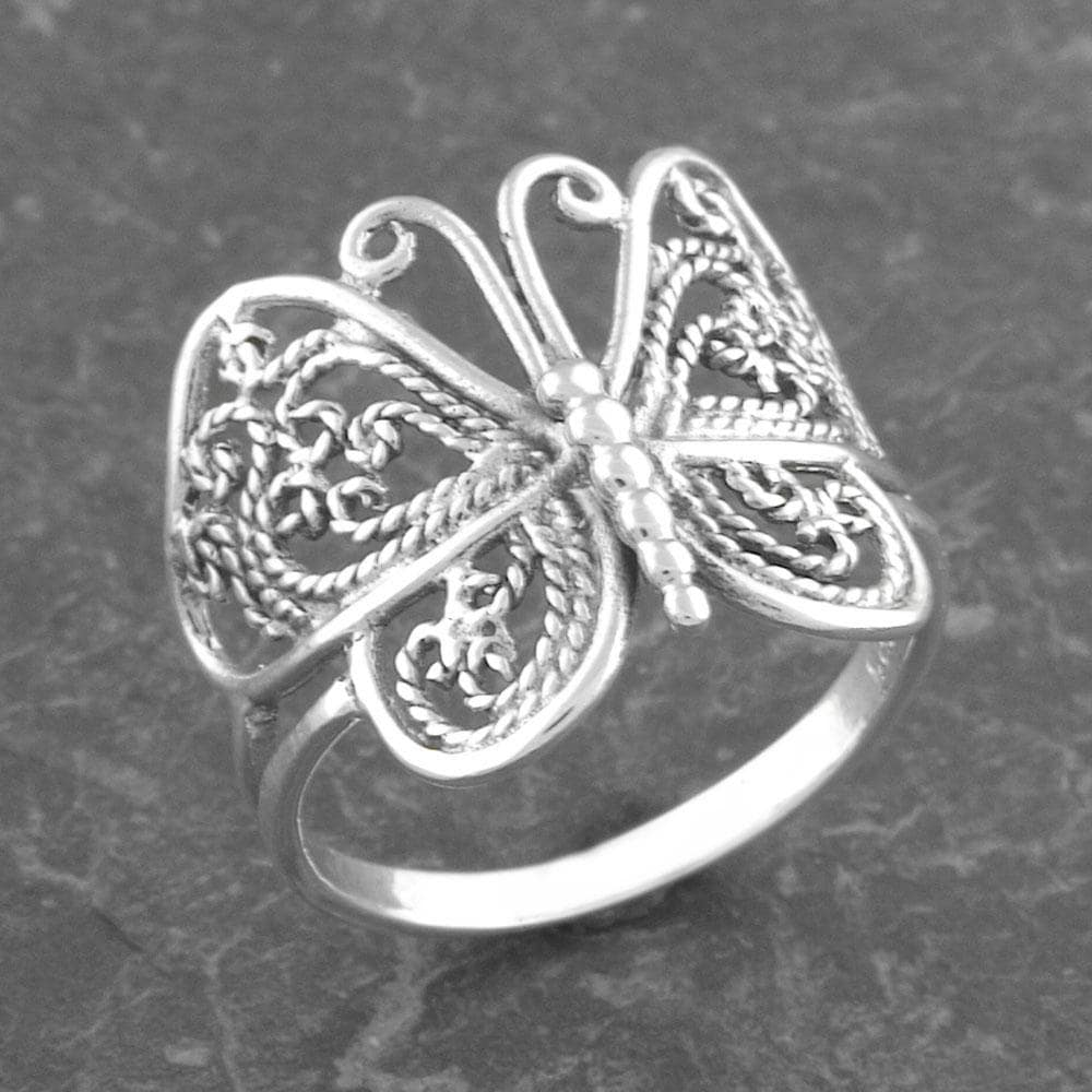 Sterling Silver Butterfly Ring (Thailand)