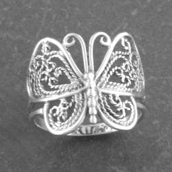 Sterling Silver Butterfly Ring (Thailand) - Thumbnail 1