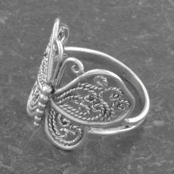 Sterling Silver Butterfly Ring (Thailand) - Thumbnail 2