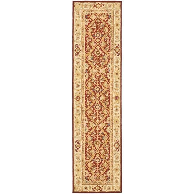 Safavieh Hand-hooked Chelsea Treasures Ivory Wool Runner (2'6 x 10')