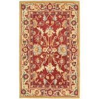 Safavieh Hand-hooked Chelsea Heritages Red Wool Runner (2'6 x 4') - 2'6 x 4'