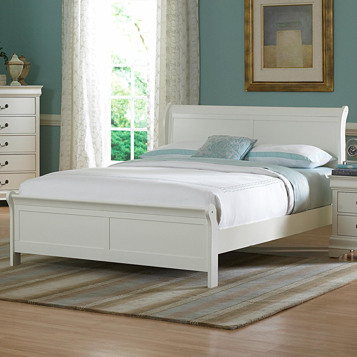 Alfie White Queen Bed Free Shipping Today Overstock