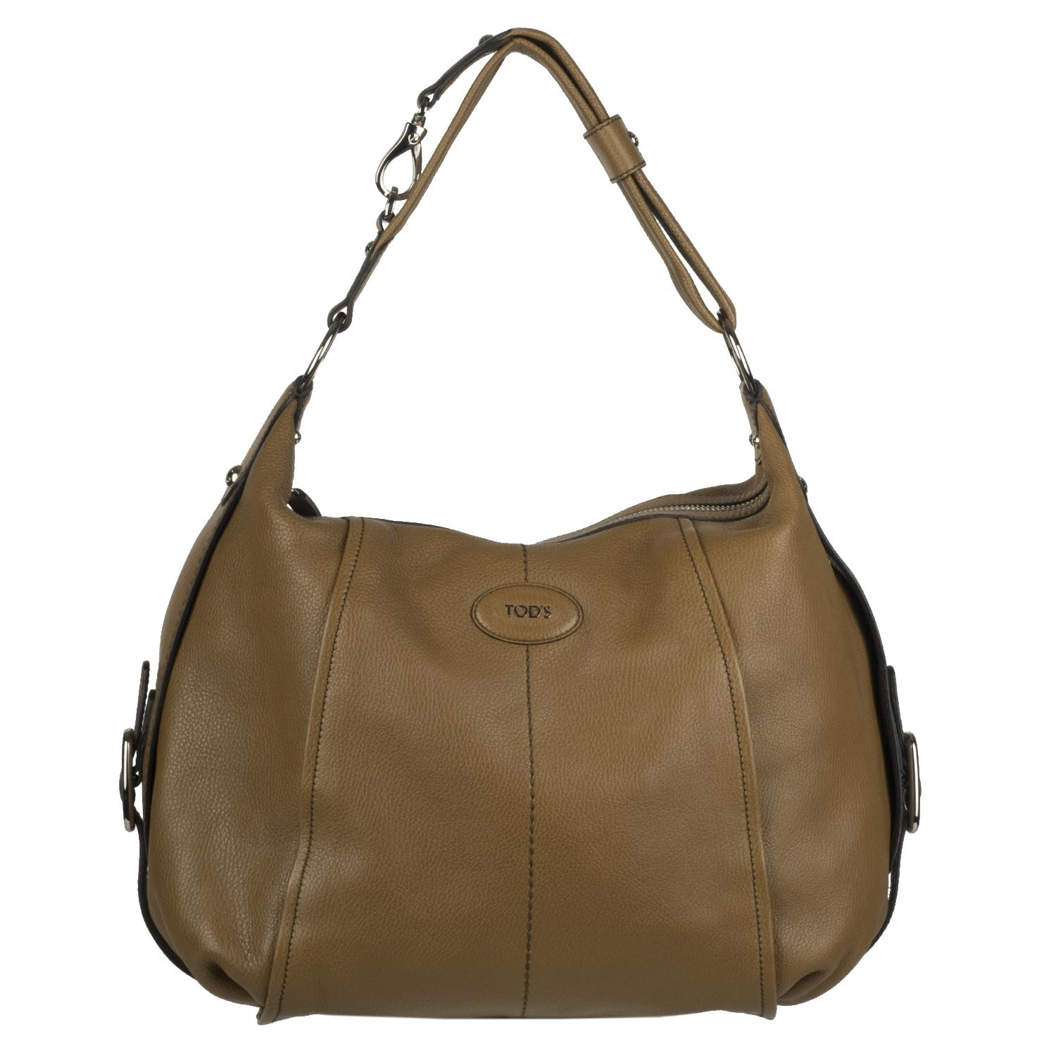 Tod s Brown Leather Hobo Bag Free Shipping Today Overstock