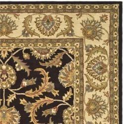 Safavieh Handmade Heritage Traditional Kerman Brown/ Ivory Wool Rug (7'6 x 9'6) - Thumbnail 1