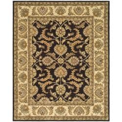 Safavieh Handmade Heritage Traditional Kerman Brown/ Ivory Wool Rug - 7'6 x 9'6 - Thumbnail 0