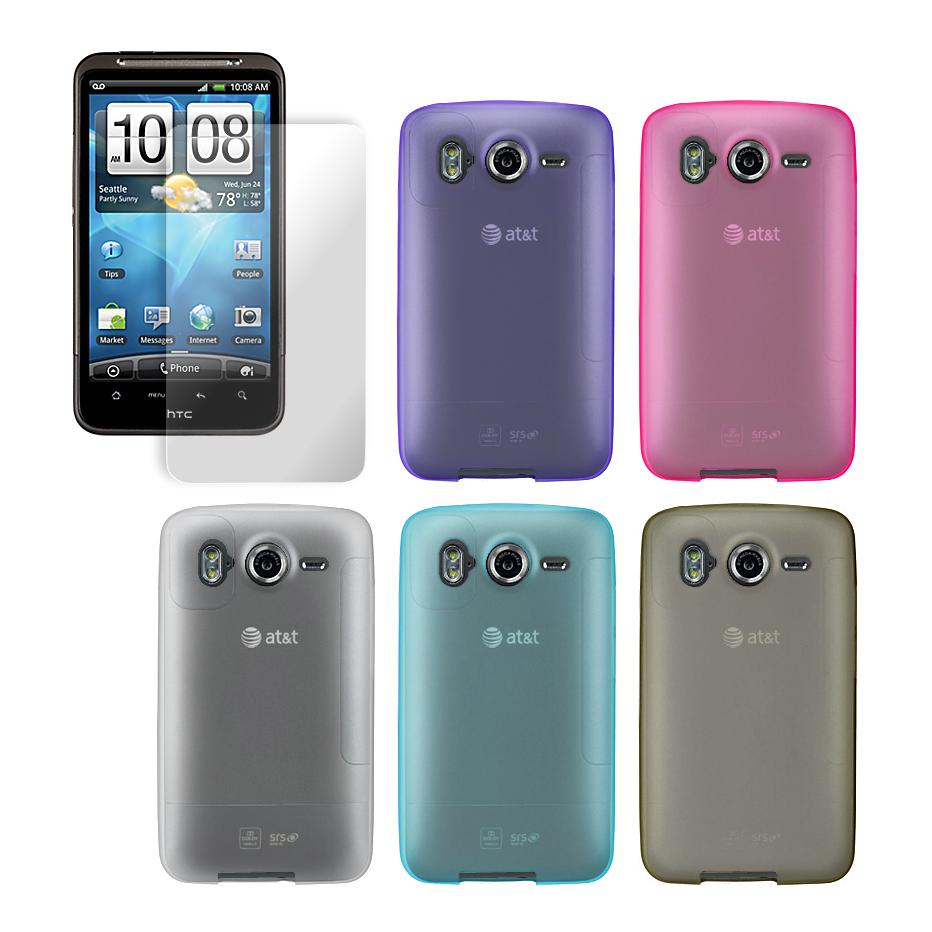 Premium HTC Inspire 4G Tinted Protector Case with Screen Protector