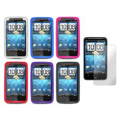 Premium HTC Inspire 4G Silicone Case with Screen Protector - Thumbnail 2