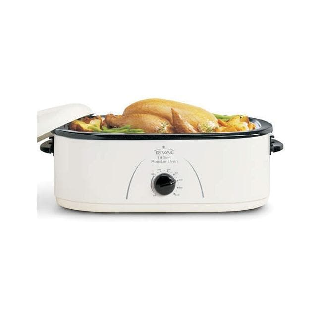 Oster 18 Quart Roaster Oven With Buffet Server White: Rival RO180 White 18-quart Roaster Oven