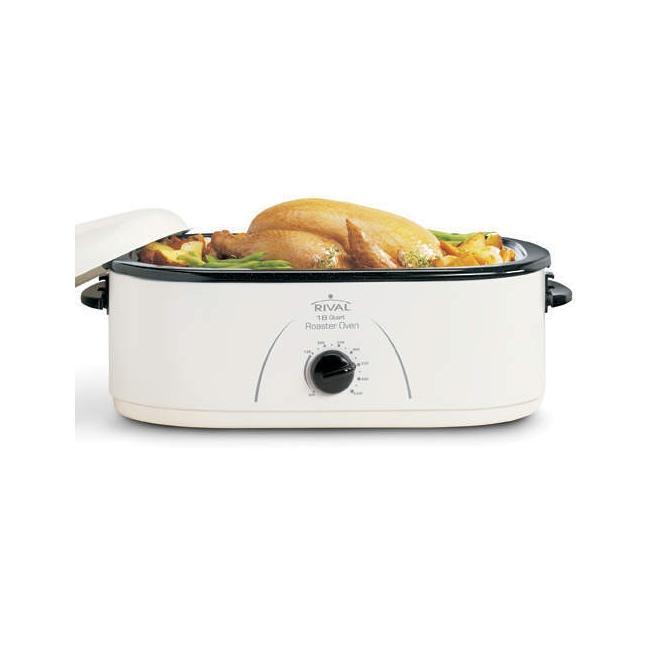 Sportsman 18 Qt Roaster Oven 800654: Rival RO180 White 18-quart Roaster Oven