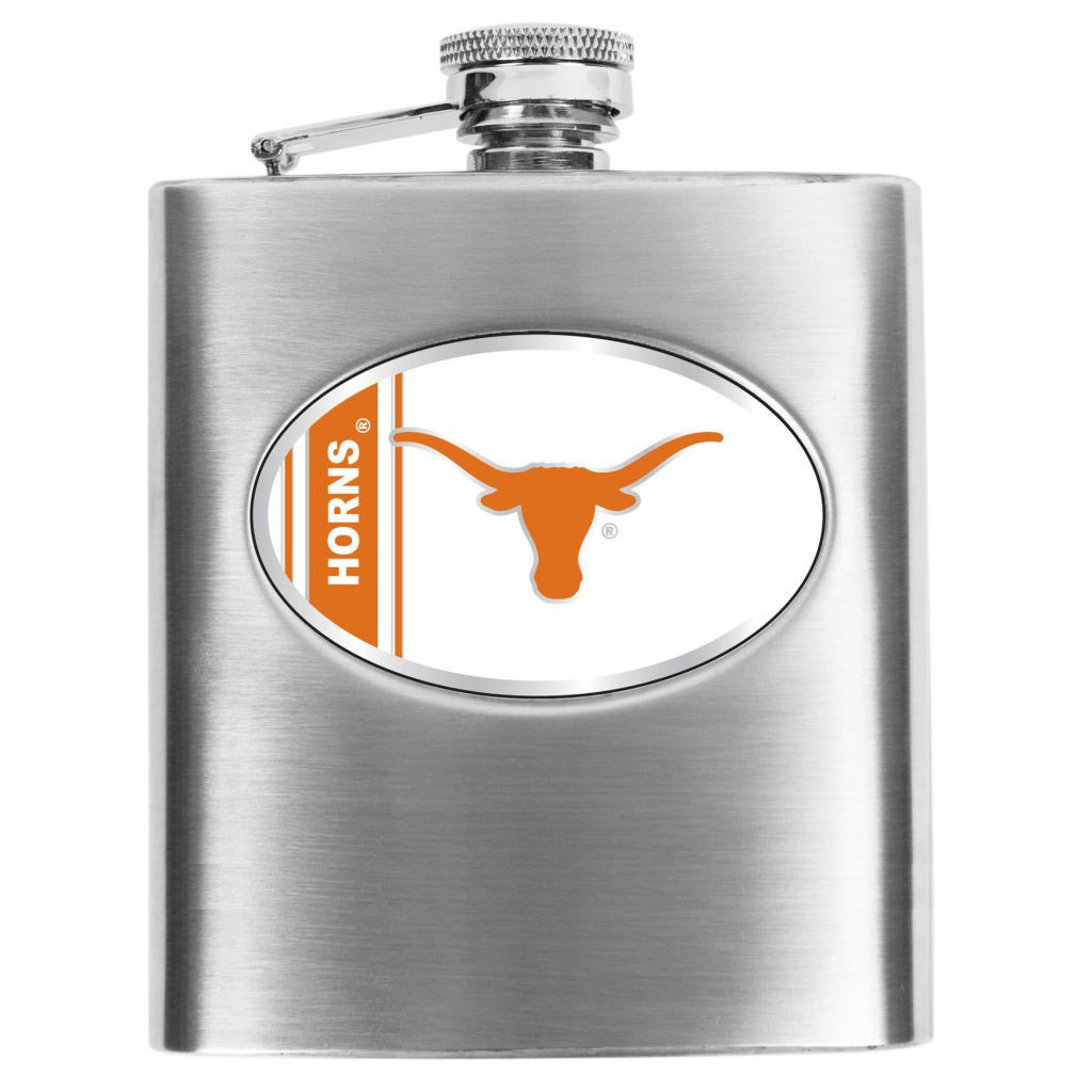 Simran Texas Longhorns 8-oz Stainless Steel Hip Flask