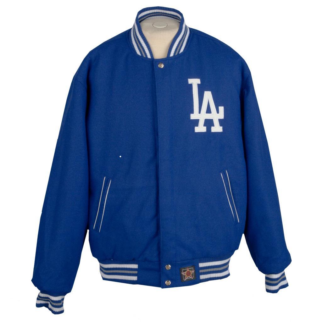 JH Designs Los Angeles Dodgers Reversible Wool Jacket