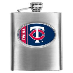 Simran Minnesota Twins 8-oz Stainless Steel Hip Flask - Thumbnail 0