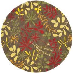 Safavieh Handmade Soho Brown/ Multi New Zealand Wool Rug (6' Round)