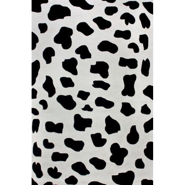 nuLOOM Handtufted Dalmatians Zebra Wool Rug (6' x 9')