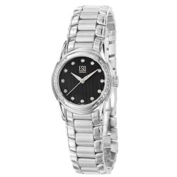 ESQ by Movado Women's 'Quest' Stainless Steel Diamond Watch - Thumbnail 1