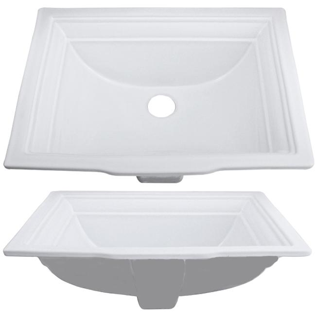 Ticor Undermount / Overmount White Porcelain Vanity Sink