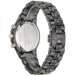 TechnoMarine Women's 'MoonSun' Steel and Black Ceramic Quartz Watch
