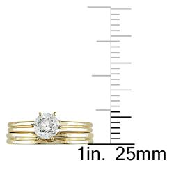 Miadora 14k Yellow Gold 1/2ct TDW Diamond Bridal Ring Set (G-H, SI1-SI2) - Thumbnail 2