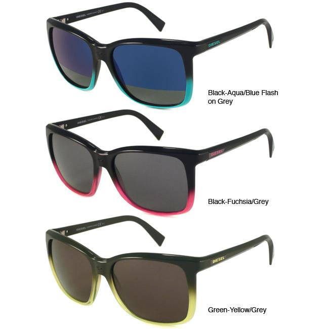 43b5490b81b5 Shop Diesel DS0214 Women s Square Fashion Sunglasses - Free Shipping Today  - Overstock - 5785211