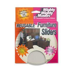 Master Caster Beige 5-inch Round Furniture Sliders (Pack of 4)