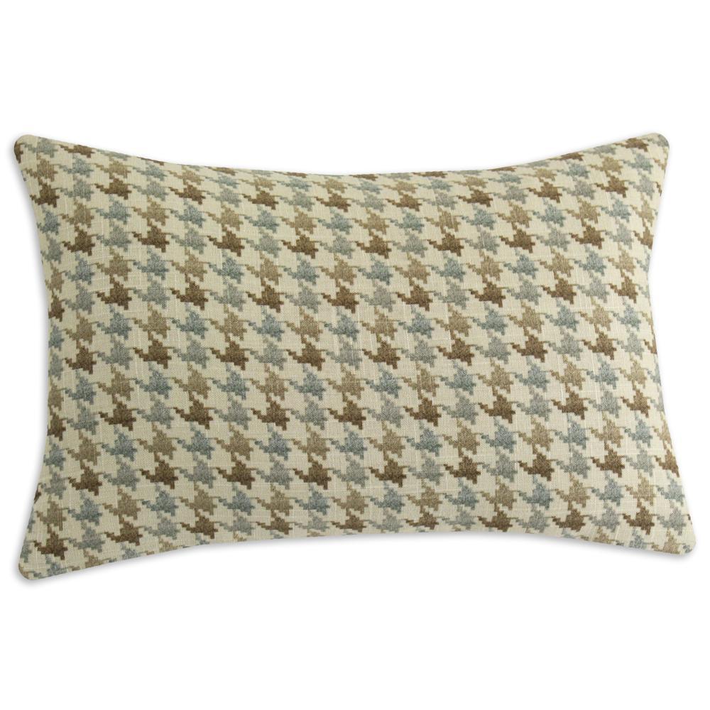 Abilene Seamist Houndstooth Throw Pillow