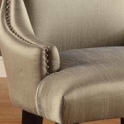 Thumbnail 2, Trenton Grey Synthetic Silk Accent Armless Chair. Changes active main hero.