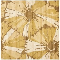 Safavieh Handmade Soho Ivory New Zealand Wool Rug (6' Square) - 6'/6' Square - Thumbnail 0
