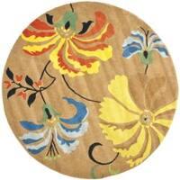 Safavieh Handmade Soho Brown New Zealand Wool Rug (6' Round) - 6' Round