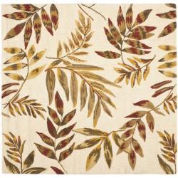 Safavieh Handmade Soho Beige/Multi New Zealand Wool Floral Rug (6' Square)