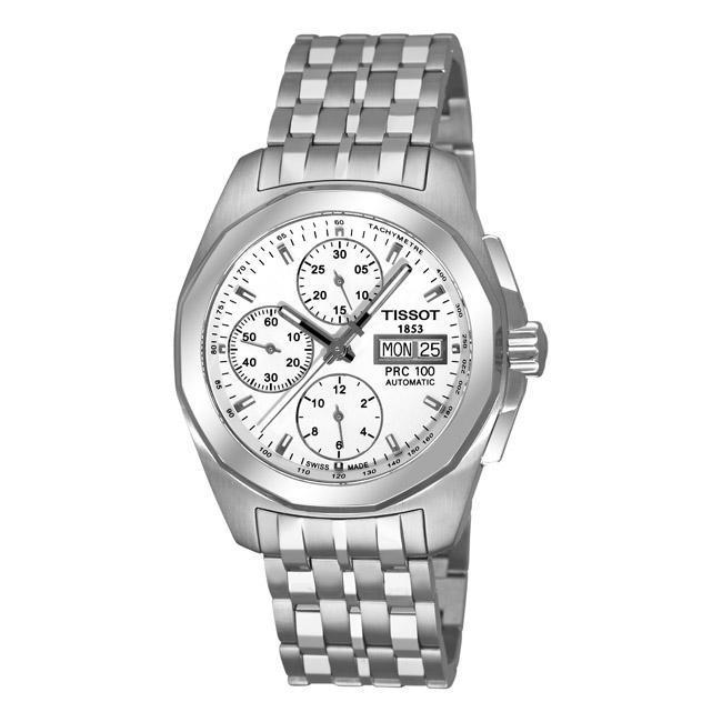 Tissot Men's 'PRC 100 Automatic' Silver Dial Chronograph Watch