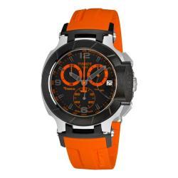 Tissot Men's 'T-Race Quartz' Black and Orange Dial Chronograph Watch