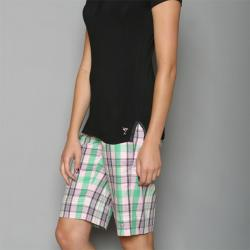 Golftini Women's Pink/ Green Plaid Golf Shorts