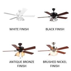 New Image Concepts 4-light Ceiling Fan with Tiger Stripe Blades - Thumbnail 1