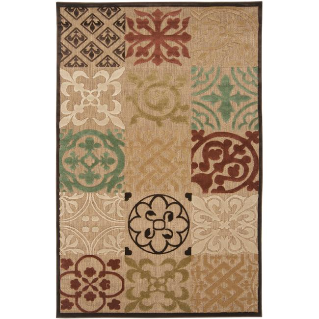 Woven Equinox Natural Essential Rug (7'10 x 10'8), Blue T...