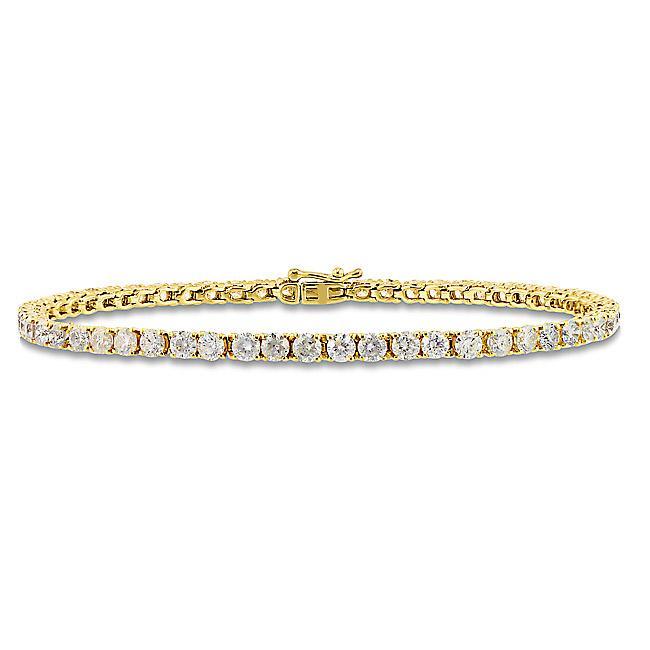 Miadora 14k Yellow Gold 5ct TDW Diamond Tennis Bracelet (G-H, I1-I2)