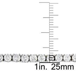 Miadora 14k White Gold 6ct TDW Diamond Tennis Bracelet (G-H, I1-I2)