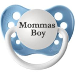 Personalized Pacifiers Blue Mommas Boy Pacifier - Thumbnail 1