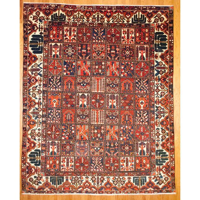 Shop Oriental Persian Gabbeh Shades Of Orange Hand Knotted: Shop Persian Hand-knotted Bakhtiari Red/ Orange Wool Rug