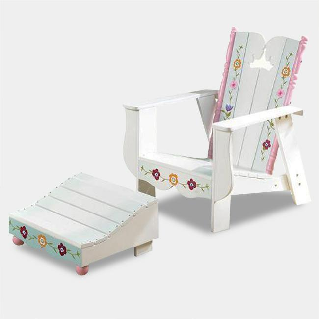 Disney Princess Adirondack Outdoor Chair and Ottomon Set