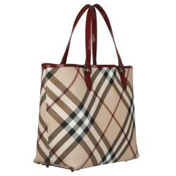 Burberry 3753178 Nova Check Large PVC Tote Bag - Thumbnail 1
