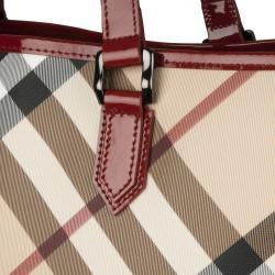 Burberry 3753178 Nova Check Large PVC Tote Bag - Thumbnail 2