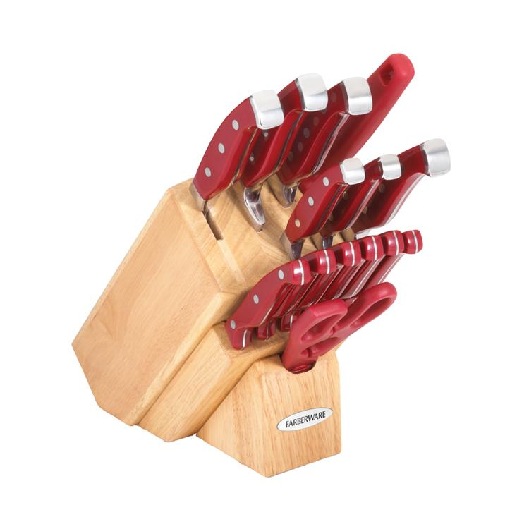 Shop Farberware Pro 11 Red Forged 15 Piece Cutlery Set