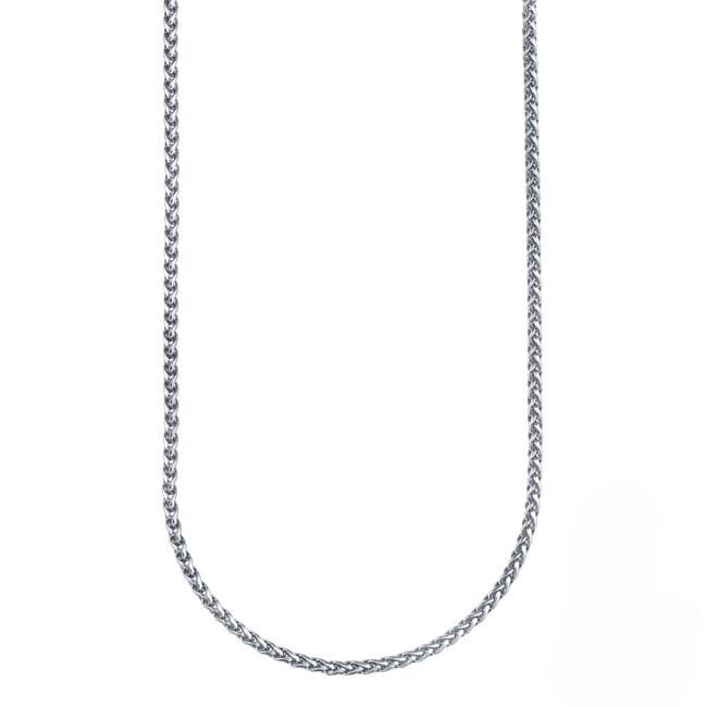 Stainless Steel 20-inch Wheat Chain Necklace