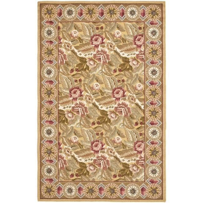 Safavieh Hand-hooked Chelsea Eden Multi/ Gold Wool Rug (7'9 x 9'9)