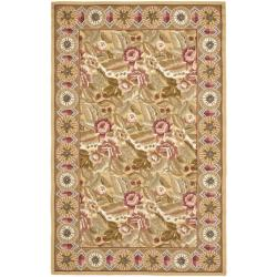 Safavieh Hand-hooked Chelsea Eden Multi/ Gold Wool Rug (7'9 x 9'9) - Thumbnail 0