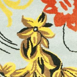 Safavieh Handmade Soho Blue New Zealand Wool Runner (2'6 x 10') - Thumbnail 2