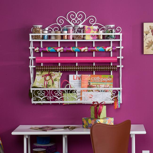 Miliam White Wall Mount 2-Shelf Storage Rack