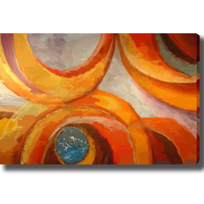 'Abstract Eccentric' Giclee Canvas Art